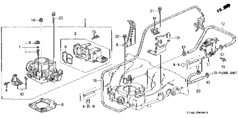 1998 civic LX 4 DOOR 5MT THROTTLE BODY (1) diagram