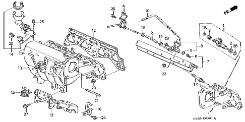 2000 civic EX 4 DOOR 5MT INTAKE MANIFOLD (2) diagram
