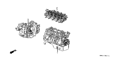 2000 civic DX-V 4 DOOR 4AT ENGINE ASSY. - TRANSMISSION ASSY. diagram