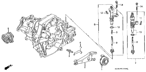 1999 civic LX 4 DOOR 5MT MT CLUTCH RELEASE diagram