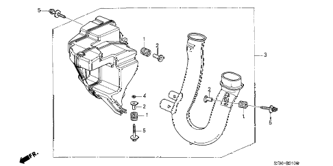 2000 cr-v EX 5 DOOR 5MT RESONATOR CHAMBER (2) diagram