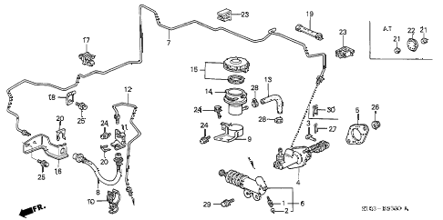 1998 cr-v EX 5 DOOR 5MT CLUTCH MASTER CYLINDER (1) diagram