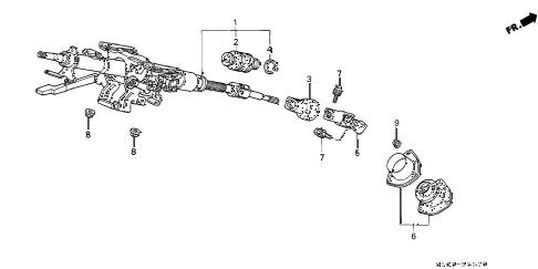 2001 cr-v LX(2WD,SUZUKA) 5 DOOR 4AT STEERING COLUMN diagram