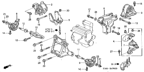 honda online store 1997 crv engine mounts at parts rh estore honda com 2002 honda crv engine diagram 2007 honda crv engine diagram