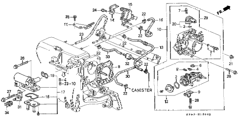 1998 cr-v EX 5 DOOR 5MT THROTTLE BODY (1) diagram