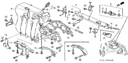 1998 cr-v LX(2WD) 5 DOOR 4AT INTAKE MANIFOLD (1) diagram