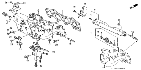 2001 cr-v SE 5 DOOR 4AT INTAKE MANIFOLD (2) diagram