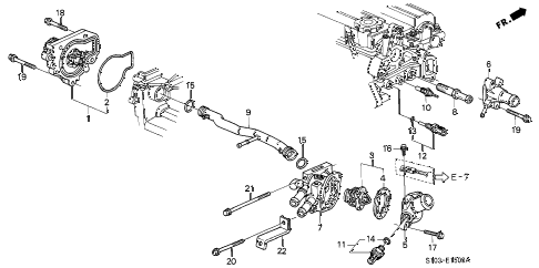 1997 cr-v LX(4WD) 5 DOOR 4AT WATER PUMP - SENSOR diagram