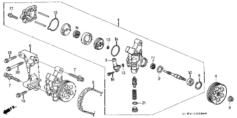2000 cr-v LX(4WD) 5 DOOR 5MT P.S. PUMP - BRACKET diagram