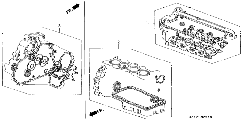 1998 cr-v LX(2WD) 5 DOOR 4AT GASKET KIT diagram