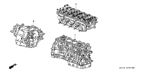 1997 cr-v LX(4WD) 5 DOOR 4AT ENGINE ASSY. - TRANSMISSION ASSY. diagram