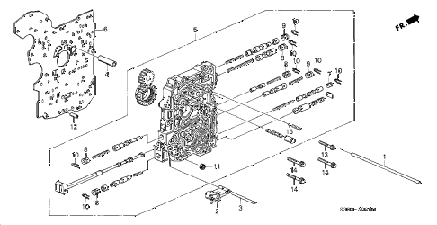 2000 prelude BASE 2 DOOR 4AT AT MAIN VALVE BODY diagram