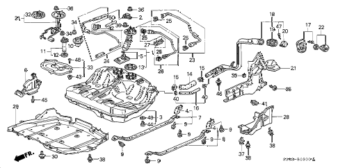 1997 prelude BASE 2 DOOR 5MT FUEL TANK (1) diagram