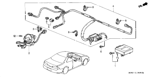 1997 prelude TYPESH 2 DOOR 5MT SRS UNIT diagram