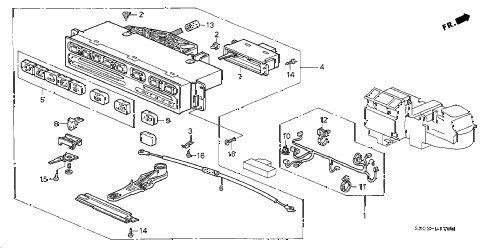2001 prelude BASE 2 DOOR 5MT HEATER CONTROL diagram