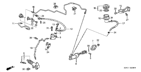 1998 prelude TYPESH 2 DOOR 5MT CLUTCH MASTER CYLINDER diagram