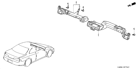 1997 prelude BASE 2 DOOR 5MT DUCT diagram