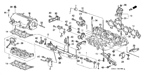 2000 prelude BASE 2 DOOR 4AT INTAKE MANIFOLD diagram