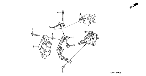 1998 prelude TYPESH 2 DOOR 5MT IGNITION COIL diagram
