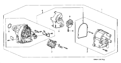 2000 prelude TYPESH 2 DOOR 5MT DISTRIBUTOR (TEC) diagram