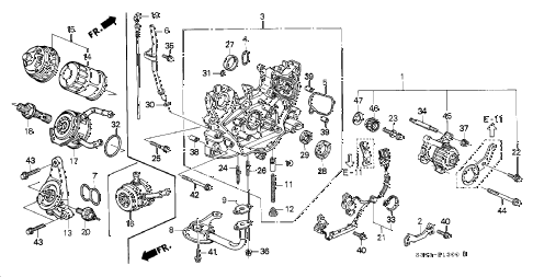 1998 prelude TYPESH 2 DOOR 5MT OIL PUMP - OIL STRAINER diagram