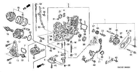2000 prelude BASE 2 DOOR 5MT OIL PUMP - OIL STRAINER diagram