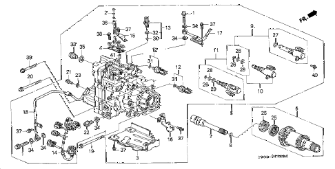 1999 prelude TYPESH 2 DOOR 5MT ATTS UNIT diagram