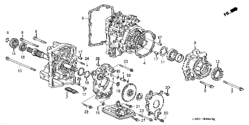 1998 prelude TYPESH 2 DOOR 5MT ATTS UNIT COMPONENTS diagram