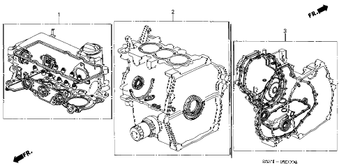 2000 insight DX 3 DOOR 5MT GASKET KIT diagram