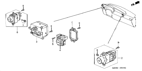 2003 insight DX 3 DOOR CVT SWITCH diagram