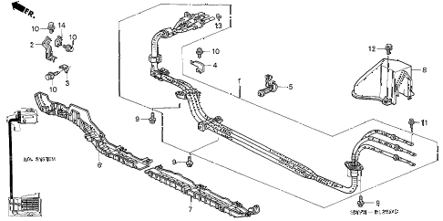 2002 insight DX 3 DOOR CVT IMA MAIN CABLE - STAY diagram