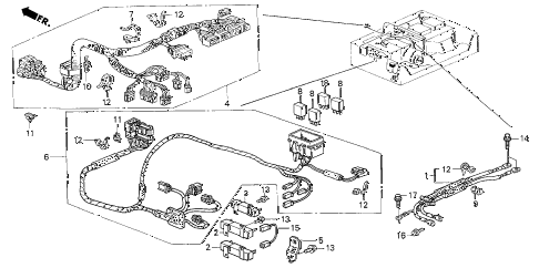 2003 insight DX(A/C) 3 DOOR 5MT IMA WIRE HARNESS diagram