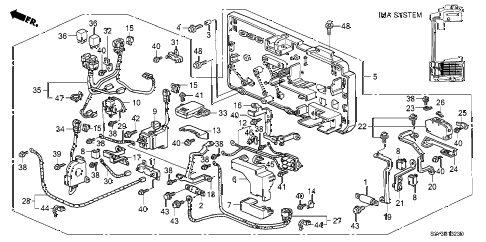2001 insight DX 3 DOOR 5MT IMA MAIN SWITCH - JUNCTION BOARD diagram