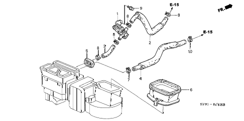 2003 insight DX 3 DOOR CVT WATER VALVE diagram