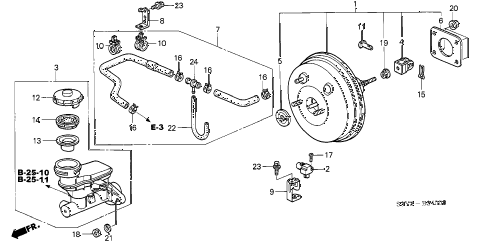 2000 insight DX 3 DOOR 5MT BRAKE MASTER CYLINDER  - MASTER POWER diagram
