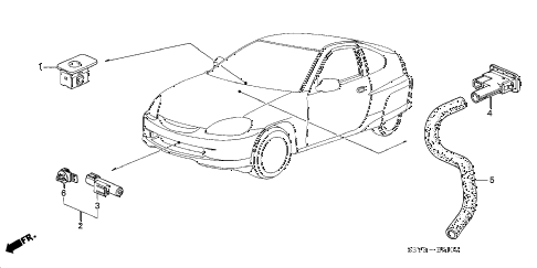 2002 insight DX 3 DOOR CVT SENSOR diagram