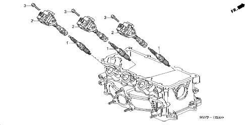 2001 insight DX 3 DOOR 5MT IGNITION COIL diagram