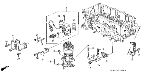 2000 insight DX 3 DOOR 5MT SPOOL VALVE diagram