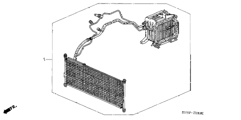 2002 insight DX 3 DOOR 5MT A/C KIT diagram