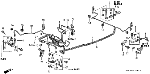 2003 civic GX(SIDE SRS) 4 DOOR CVT BRAKE LINES (ABS) (3) diagram