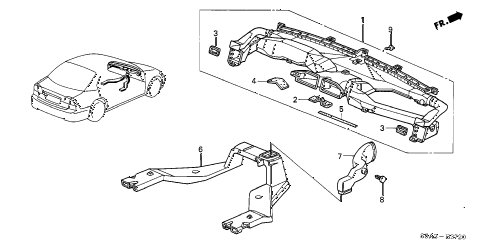 2002 civic LX(SIDE SRS) 4 DOOR 4AT DUCT diagram