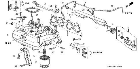 2003 civic GX 4 DOOR CVT INTAKE MANIFOLD (2) diagram