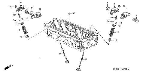 2002 civic DX(SIDE SRS) 4 DOOR 4AT VALVE - ROCKER ARM (SOHC) diagram