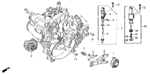 2003 civic DX(A/C) 4 DOOR 5MT MT CLUTCH RELEASE diagram
