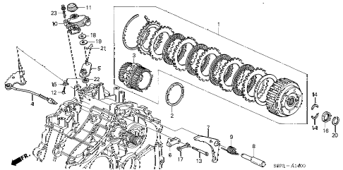 2002 civic GX(SIDE SRS) 4 DOOR CVT CVT STARTING CLUTCH diagram