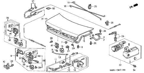 2000 accord EX(UL LEATHER) 2 DOOR 5MT TRUNK LID diagram