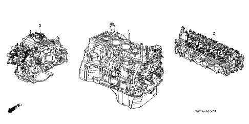 1998 accord LX 2 DOOR 5MT ENGINE ASSY. - TRANSMISSION ASSY. (L4) diagram