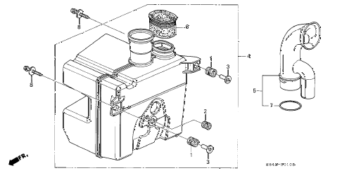 2000 accord LX(UL) 2 DOOR 5MT RESONATOR CHAMBER diagram