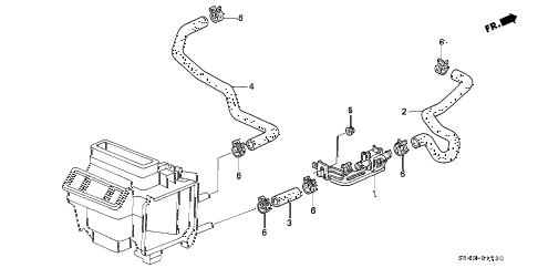 1998 accord EX 2 DOOR 4AT WATER VALVE diagram