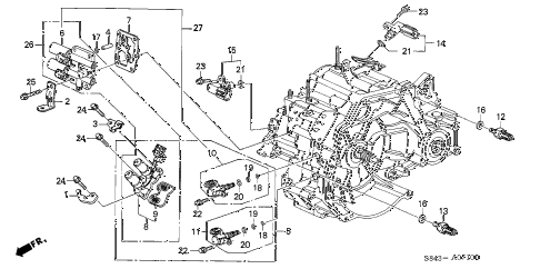 1998 accord EX-UL 4 DOOR 4AT AT SENSOR - SOLENOID diagram